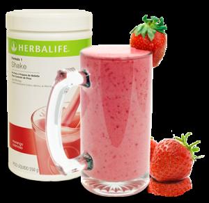 penyajian Herbalife shake milk
