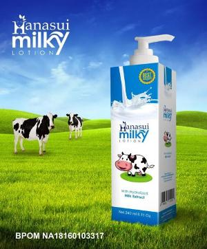hanasui body lotion milky