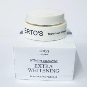 ERTOS NIGHT CREAM WHITENING BPOM ORIGINAL