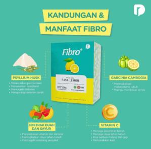 Fibro Minuman Serbuk Rasa Lemon Original BPOM